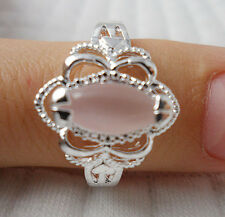 !New simple 1pcs S80 silver Opal GEMS Men and women rings Size8 JZ30