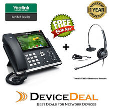 Yealink SIP-T48G 6 Line, Dual Gigabit IP Phone with Free Yealink YHS33 Headset
