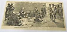 1884 magazine engraving~ SHEIK MORGANI dictating letters to rebel leaders~ Sudan