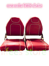 New Wholesale  One Pair High Back Folding Boat Fishing Seats  Boat Seat (RED)