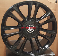 24 Wheels Fit Cadillac Escalade Platinum Factory Style Gloss Black Rims 22 EXT