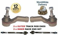 FOR FORD FOCUS C MAX 2003-2007 2 INNER & 2 OUTER STEERING TRACK RACK TIE ROD END