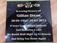 memorial stones for your loved ones or pets House Name Plate (12MM GRANITE)