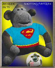 "ITV / PG TIPS 16"" MONKEY/CHIMP TOY & SUPERMAN SWEATER TO KNIT  KNITTING PATTERN"