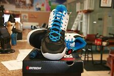EKTELON RACQUETBALL SHOES T22 MID WHITE / SILVER / BLUE  MENS SIZE 7.5
