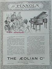 PUBLICITE PIANO PIANOLA DUO ART THE AEOLIAN DE 1925 FRENCH AD PUB ART DECO