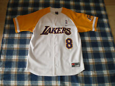 RARE Mens Size-M_Nike NBA Team Baseball Jersey_KOBE BRYANT #8_Los Angeles Lakers