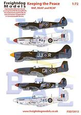 Freightdog Decals 1/72 KEEPING THE PEACE Part 1 RAF, RAAF, and RCAF