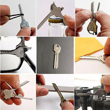 6 in 1 SWISS TECH Utili-Key Keychain Multi Tool Stainless Steel Pocket Gadgets