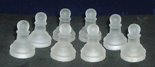 "Glass Chess Replacement Piece Frosted Eight 8 Pawns 1 5/8"" Craft Project"