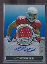 2010 Bowman Sterling Andre Roberts Blue Refractor Auto Jersey Rc Serial # To 99