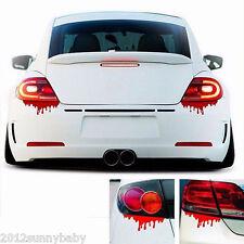 2Pcs Funny Bleeding Red Blood Drip Zombie Reflective DIY Car Decal Sticker Decor