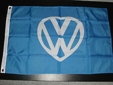 VW HEART 5' X 3' FLAG VANFEST DORDET DUBS ON THE BEACH WITH 2 FREE VW HAND FLAGS