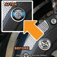 Brembo Front Brake Caliper Insert Set For Harley - BLUE LINE POLICE - 185