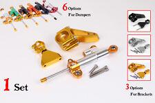 CNC Steering Damper Complete Set for HONDA CBR600F F4i 2001-2007 w/ bracket kits