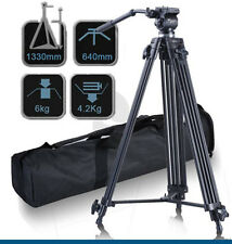 Pro Tripod Weifeng (Fancier) WF-717 + Fluid Video Pan Head 1/4″ 3/8″ for DV DSLR