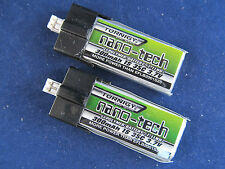 2 New Turnigy nano-tech 300mAh 1S 35C Lipo E-Flite Blade mCPX FBL100 Batteries