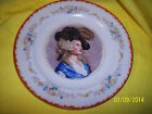 "* Wexford China Dinner plate 9.75"" WOMAN IN BLUE DRESS WITH HAT AND FEATHER"