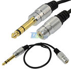 """30cm 6.35mm 1/4"""" male plug to 3.5mm 1/8"""" female jack stereo Mic audio cable Cord"""