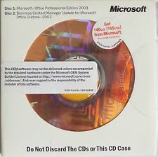 Microsoft Office 2003 Professional Full Version MS Pro w/Business Contact Manage