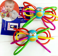 Baby Child Kid Manhattan Zoo Winkels Sensory Rattles Teether Activity Owl Toy 0+