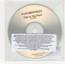 (FE579) Sam Brookes, This Is The Place - 2014 DJ CD