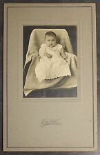 Antique Cabinet Card Photo Little Chubby Baby Sidney Ohio Van De Grift Cute