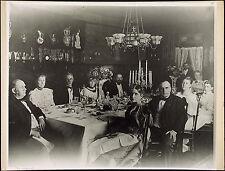 WILLIAM McKINLEY Antique c1910s-20s Photo-mech Print SEN HANNA DINNER PARTY 1894