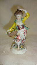 Antique Samson Paris Porcelain Figure of a Flower Girl with Gold Anchor Mark