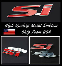 Bolt on 3D Metal White Red SI LOGO Front Black Emblem Badge For All Grill Grille