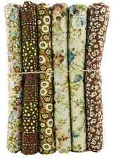 6pcs BUNDLE brown COTTON FABRIC FLORAL roses quilting patchwork Crafts quilting