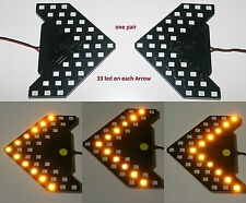2 Amber 33-SMD Sequential LED Arrows for Car Side Mirror Turn Signal Lights