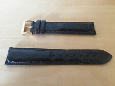 New - Dark Brown Leather Strap 20 mm PAMIES COLLECTORS Piel Marrón Cocodrilo