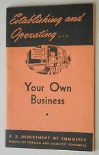 Establishing and Operating Your Own Business ~ 1945 ~ GI Bill Plan Post - WWII 2