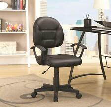 Black Leatherette Adjustable Office Task Chair by Coaster 800178