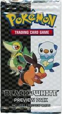 Pokemon BLACK WHITE PREVIEW PACK New Factory Sealed 3 Card Booster Sample
