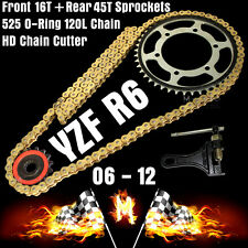 Yamaha YZF R6 2006 2007 2008 525 Chain + FRONT REAR Sprockets + Chain Cutter