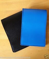 HANDMADE Blue Black Leather Golf Scorecard Holder Yardage Book Cover PGA LPGA !!