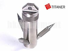 TITANER Titanium Grappling Hook Capsule Container Box Case TC4 Ti S