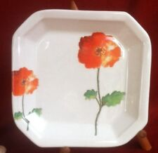 Weekend Ceramica Artistica Hand Painted Italian Vintage Square Plate/Dish