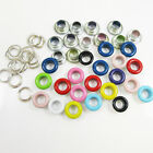50 x ROUND 5mm COLOURED EYELETS & WASHERS LEATHERCRAFTS REPAIR DIY CRAFTS