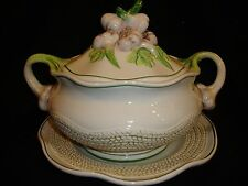 INTRADA~AGLIO~GARLIC~COVERED TUREEN DISH WITH UNDERPLATE ~NEW~MADE IN ITALY