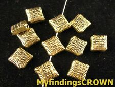 70 Pcs Antiqued gold Square spacer beads FC1361