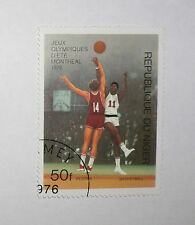 1976 OLYMPIC GAMES MONTREAL CANADA Original Republic of Nigeria Basketball Stamp