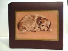 "New Puppy Quality Leather 7 1/2"" x 6 1/2"" Journal & Photo Album, Made In U.S.A."