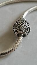 Authentic Pandora Sterling Silver Open Work Flower Charm Bead