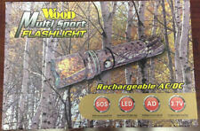 Multi Sport Flashlight Camo Rechargeable AC/DC with case NEW