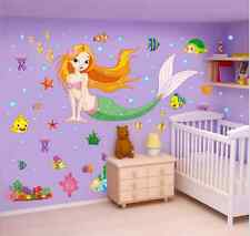New Wall Stickers Decal Kids Boys girls Room Decor Home Mural Little Mermaid