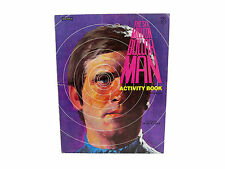 The Six Million Dollar Man Activity Book by Rand McNally 1977 Coloring Cut-Outs