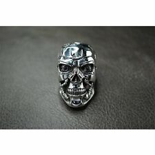 Heavy Real Solid 925 Sterling Silver T800 Skull Ring For Terminator Arnold Fans